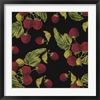 Nature's Bounty -  Raspberries Framed Print