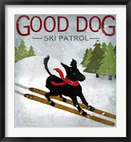Framed Good Dog Ski Patrol