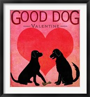 Framed Good Dog Valentine I