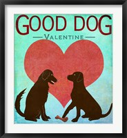 Framed Good Dog Valentine II