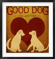 Framed Good Dog Valentine III