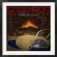 Framed Good Dog Apres Ski Lodge II