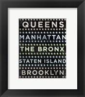 Boroughs 2 Framed Print