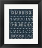 Boroughs 3 Framed Print