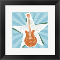 Guitar No. 2 Carnival Style Framed Print