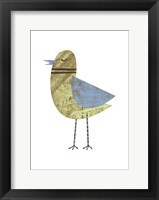Ring-necked Blue-winged Celery Bird Framed Print