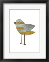 Yellow Bluestripe Framed Print