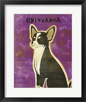 Chihuahua (black and white) Framed Print