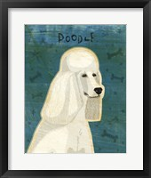 Framed Poodle (white)