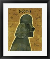 Framed Poodle (black)