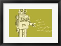 Lunastrella Robot No. 1 Framed Print