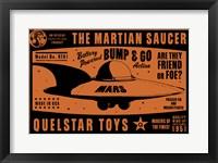 Framed Quelstar Mars Saucer
