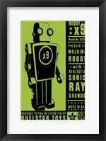 Quelstar X9 Tin Toy Robot Framed Print