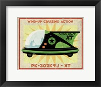 Patrol Craft XT Box Art Tin Toy Framed Print