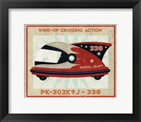 Patrol Craft 338 Box Art Tin Toy Framed Print