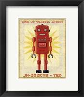 Ted Box Art Robot Framed Print