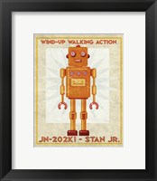 Stan Jr. Box Art Robot Framed Print