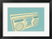 Lunastrella Boombox Framed Print
