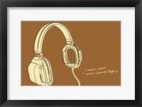 Lunastrella Headphones Framed Print