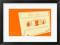 Lunastrella Mix Tape Framed Print