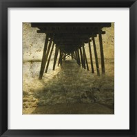 Pier Break Framed Print