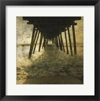 Pier Break Framed Print