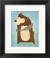 The Happy Bear Framed Print