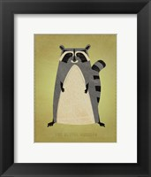 The Artful Raccoon Framed Print