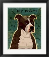 Pit Bull (Brindle) Framed Print