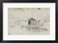 Framed Houseboat