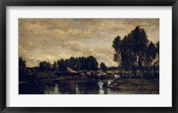 Framed Boats On The Oise, 1865
