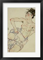 Framed Kneeling Female Semi-Nude, 1917