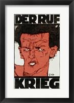 Framed Der Ruf - Krieg, Nov 1912
