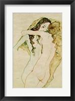 Framed Zwei Frauen In Umarmung [Two Women Embracing], 1911