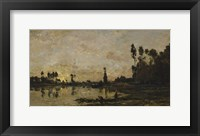 Framed Setting Sun Over The Oise, 1865