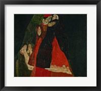Framed Cardinal And Nun (Liebkosung), 1912