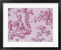 Toile Fabrics IV Framed Print