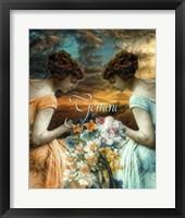 Art Nouveau Zodiac Gemini Framed Print