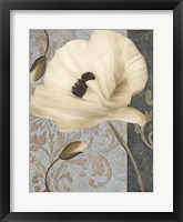 Poppy Brocade II Framed Print