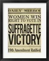 Framed Women's Right to Vote