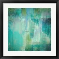 Aqua Circumstance Framed Print