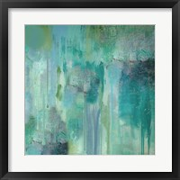 Aqua Circumstance II Framed Print