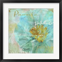 Blue Peony Light Framed Print
