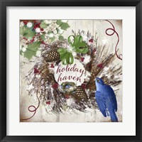 Framed Bluebird Christmas II