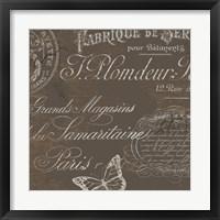 Bon Mots II Framed Print