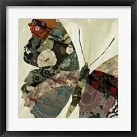 Butterfly Brocade III Framed Print