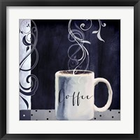 Cafe Blue I Framed Print