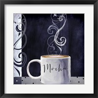 Cafe Blue III Framed Print
