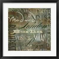 Cities of the World III Framed Print