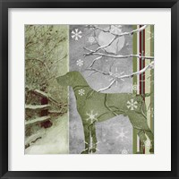 Country Christmas Dog Framed Print